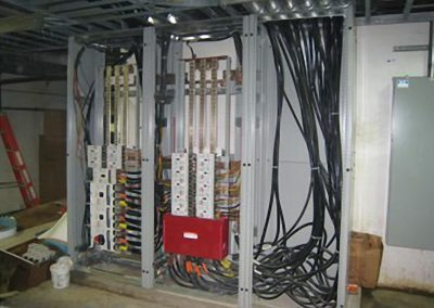 We installed a new medium voltage distribution system